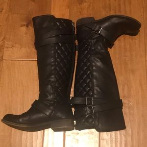 Madden Girl black quilted boots